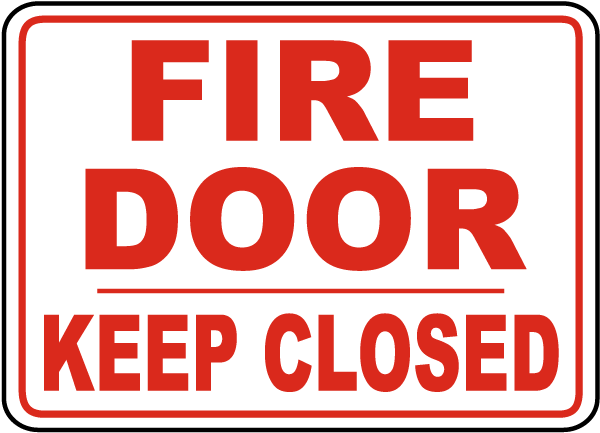 Fire Door Signs : Fire door keep closed sign b by safetysign