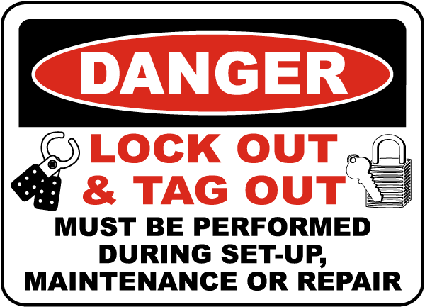 Danger Lock Out & Tag Out Label