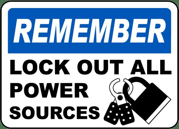 lock sign in pics