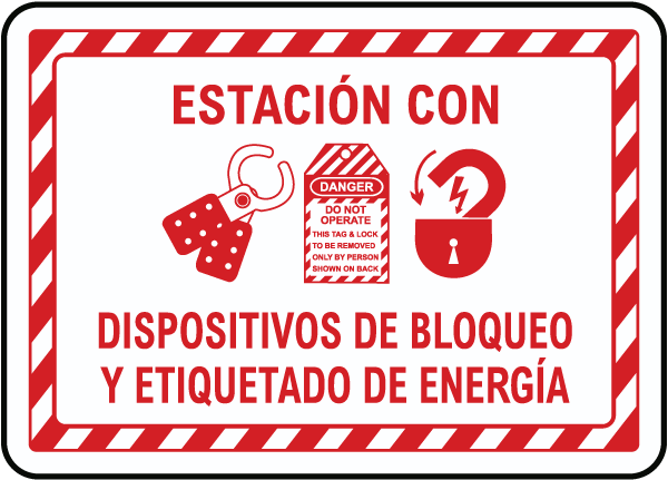 Spanish Lock Out Station Sign