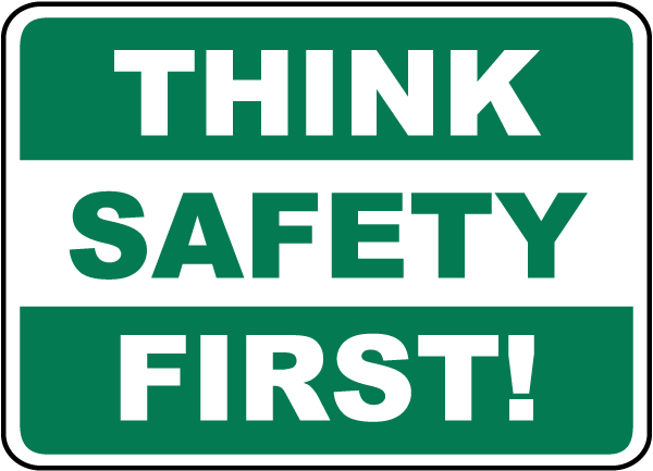 think safety first sign by safetysign com d3939 Cute Field Trip Clip Art Cute Field Trip Clip Art