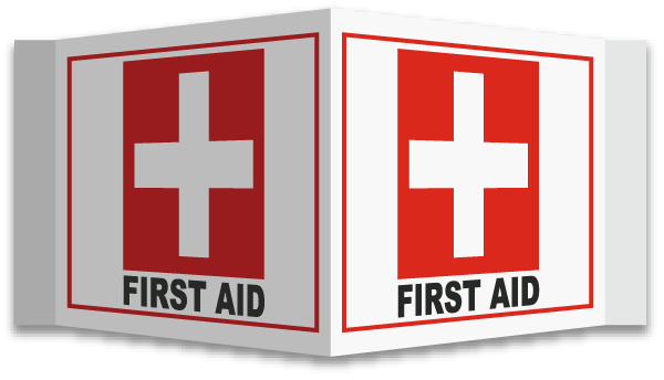 3 Way First Aid Sign D4590 By Safetysign