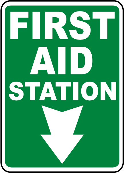 Safety First Aid Station Door Sign Emergency Medical Details about  /First Aid Kit Sign