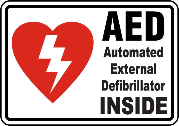 Aed Inside Label By Safetysign Com D4647
