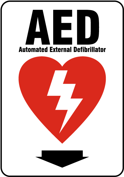 Aed Arrow Sign By Safetysign Com D4656