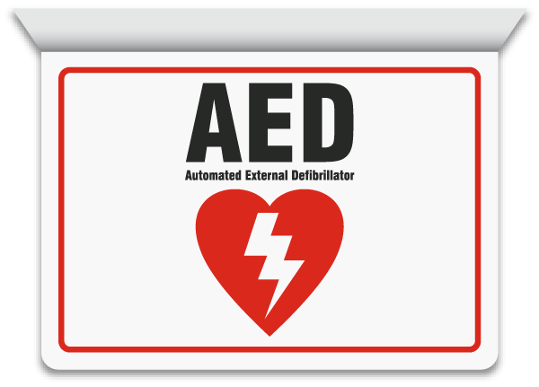 2 Way Aed Sign D4662 By Safetysign