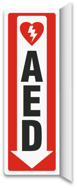 2 Way Aed Sign D4663 By Safetysign