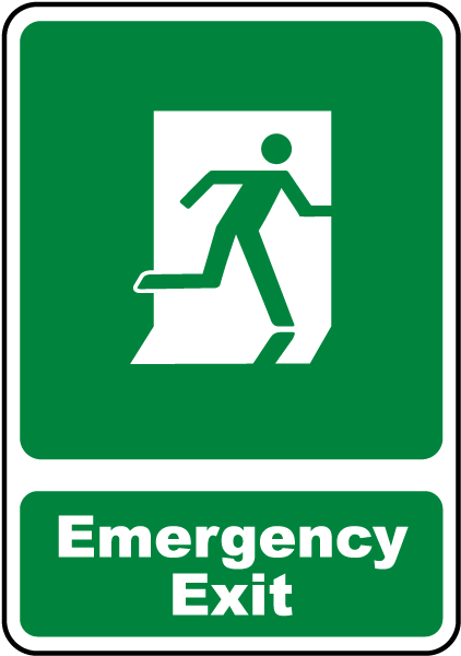 emergency exit sign d4667 by safetysign com