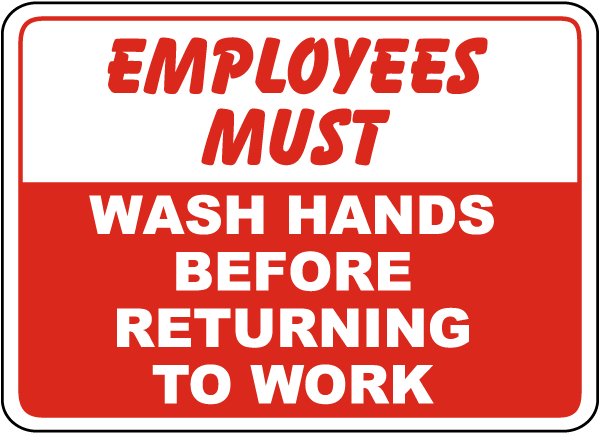 Juicy image with employees must wash hands sign printable