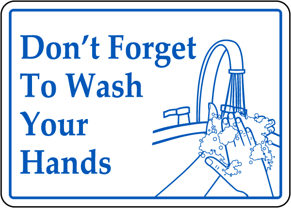 Bathroom Signs Wash Hands don't forget to wash your hands sign d5812 -safetysign