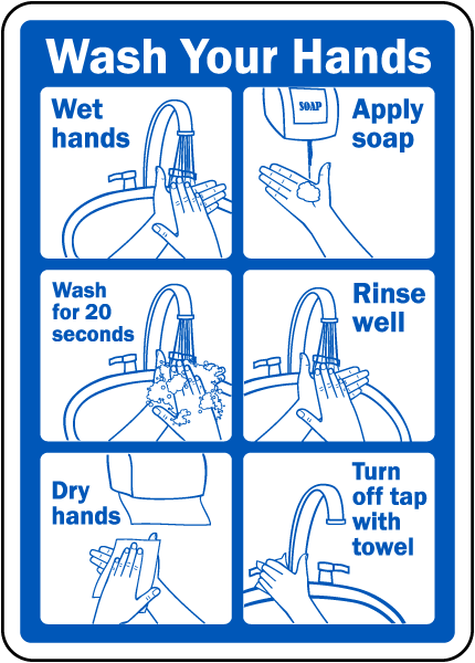 Wash Your Hands Sign By Safetysign Com D5818