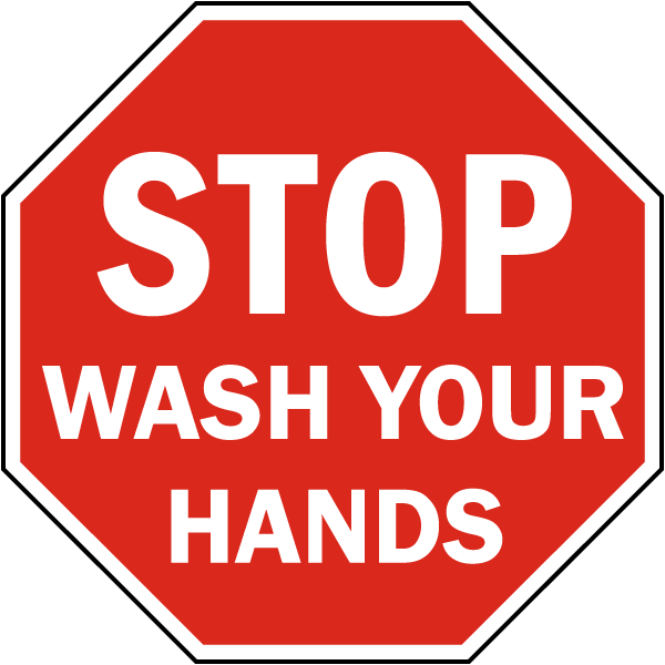 Bathroom Notice Signs stop wash your hands sign d5821