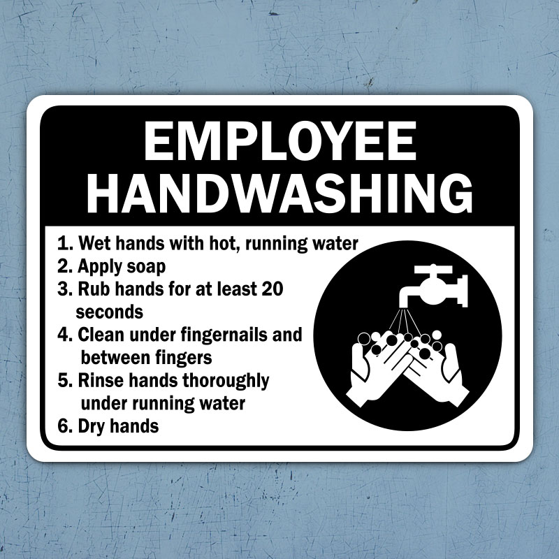 Employee Handwashing Label