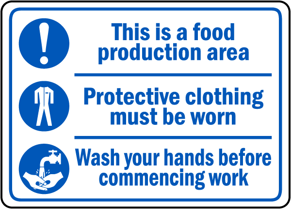 Production Area Wash Hands Sign By Safetysign Com D5859