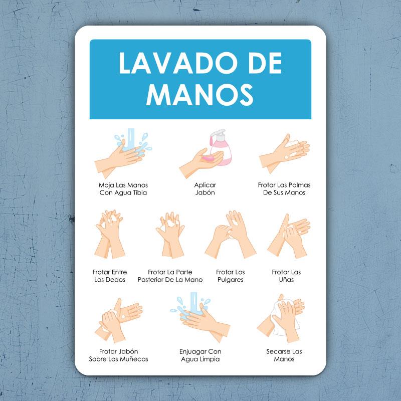 Spanish Lavado De Manos Sign