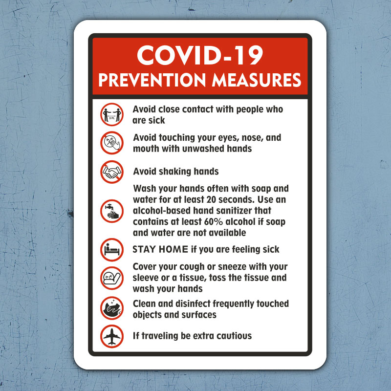 COVID 19 Prevention Measures Sign D5882 By SafetySign Com