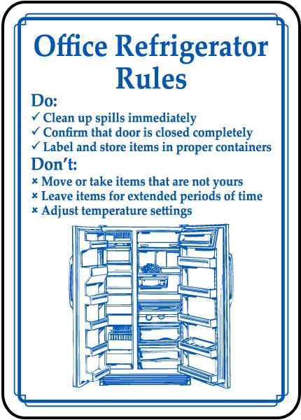 refrigerator etiquette