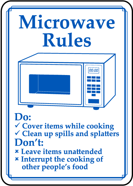 Microwave Rules Sign By Safetysign Com D5902