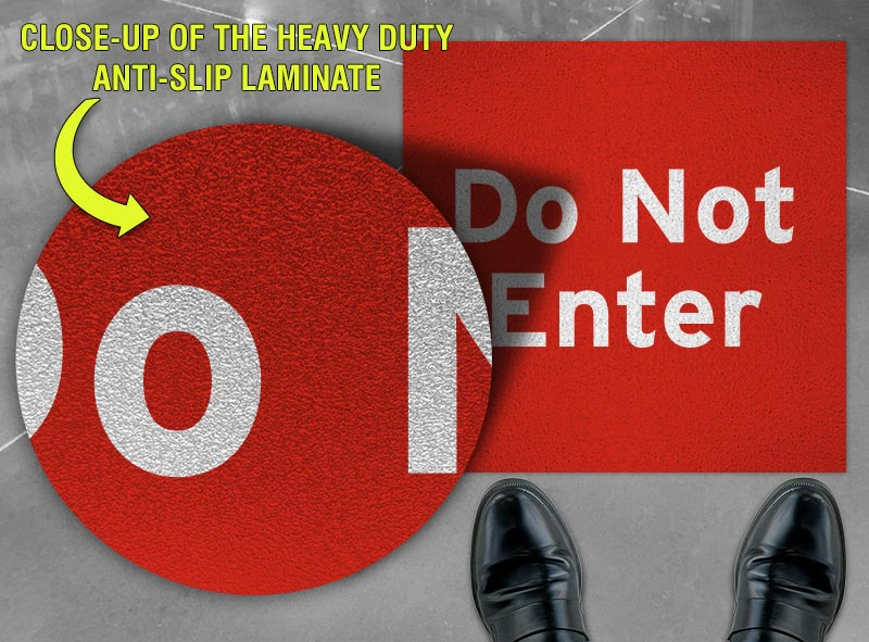 Do Not Enter Floor Sign