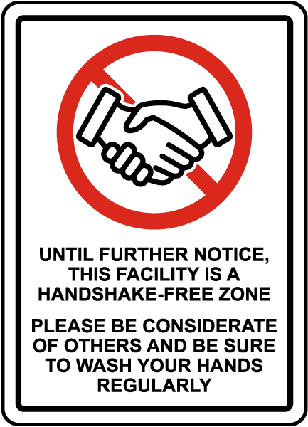 No Handshake Sign D6223 By Safetysign Com Search icons with this style. no handshake sign