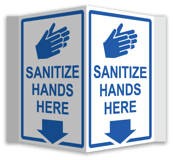 WARNING SIGN FOR BUSINESSES LAMINATED VIRUS SANITISE HANDS SOCIAL DISTANCING