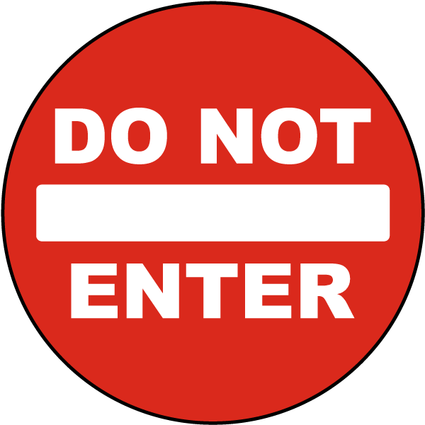 Do Not Enter Floor Decal by SafetySign.com, Floor Safety Signs