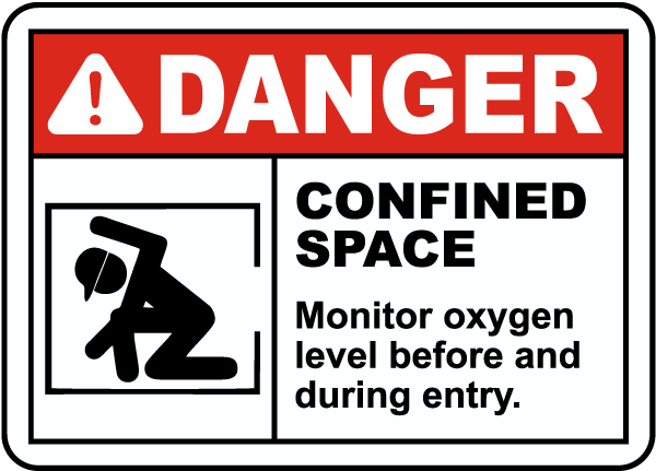 Monitor Oxygen Level Before and During Entry Sign
