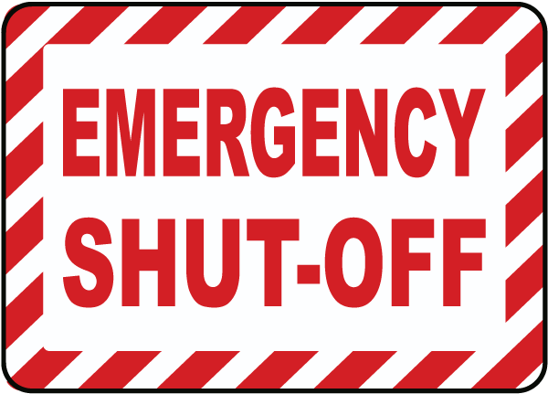 Emergency Shut-Off Label