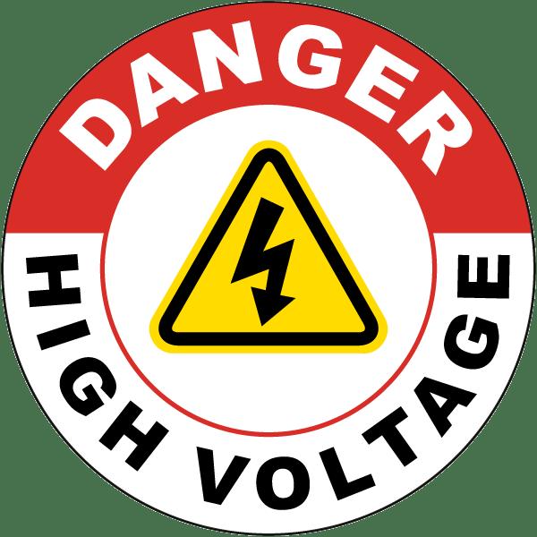 Danger High Voltage Floor Sign E3450 By Safetysign Com