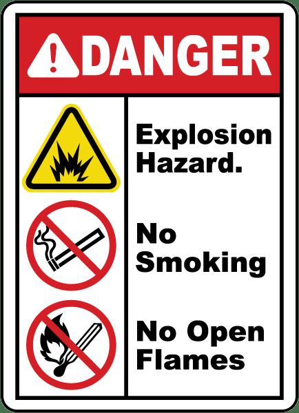 Explosion Hazard No Smoking Sign E4624 By Safetysign Com