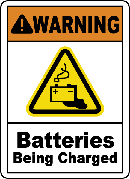 Batteries Being Charged Sign