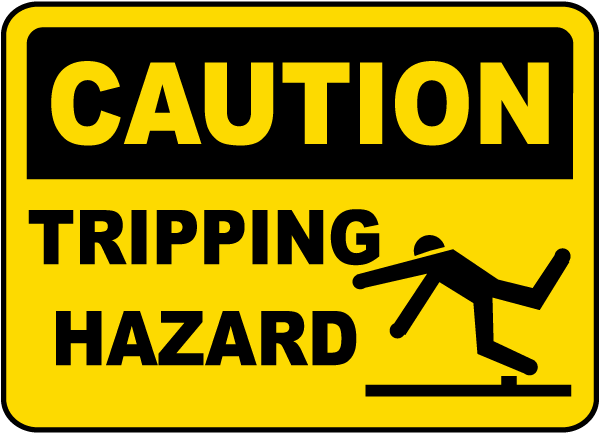 caution tripping hazard sign e5304 by safetysign com