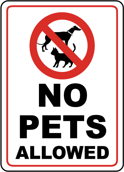 no pets allowed sign f2495 by safetysign com