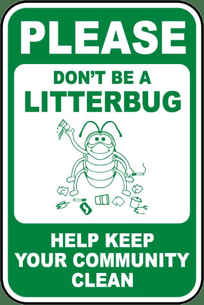 Image result for litterbug sign