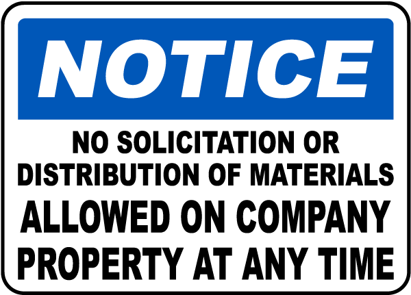 Fresh No Solicitation Allowed Sign F3708 - by SafetySign.com NS06