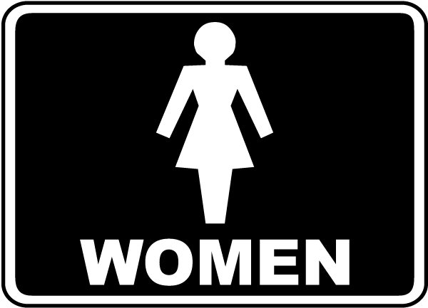 women restroom sign f4902 by
