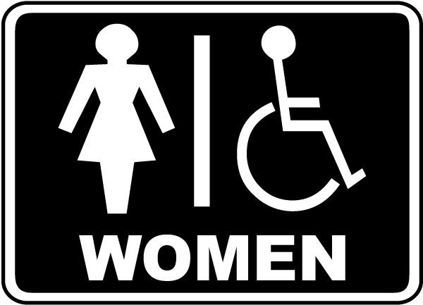 Women Accessible Restroom Sign F By SafetySigncom - Handicap bathroom sign