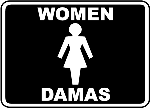 Bilingual Women Restroom Sign