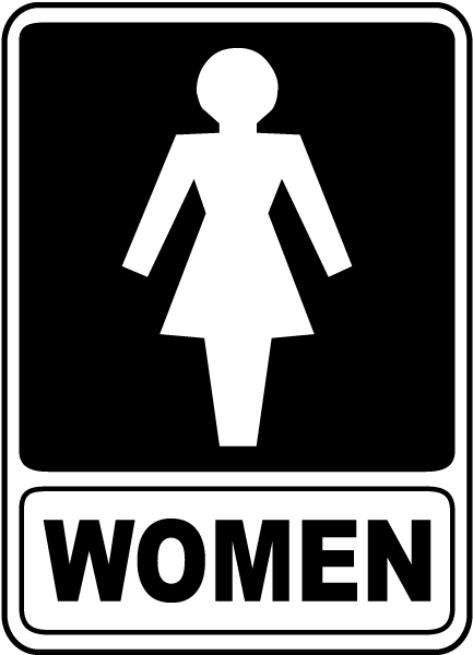 Women restroom sign f4916 by for Women s bathroom sign