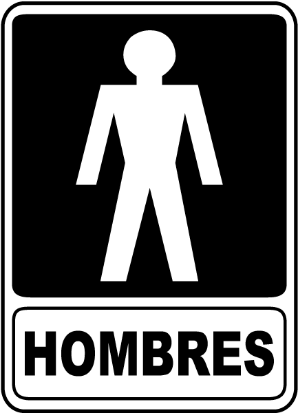Spanish Men Restroom Sign F4917 By Safetysign Com