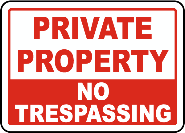 Peaceful image inside printable no trespassing signs