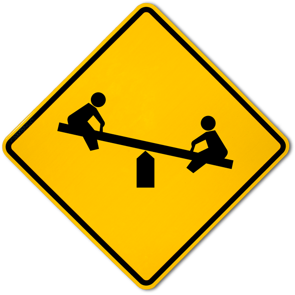Children Playing Symbol Only Sign by SafetySign.com - F6933