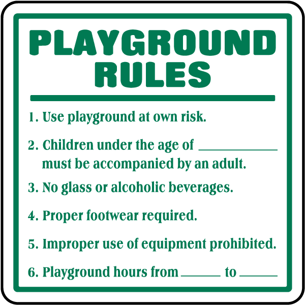 playground rules for preschoolers playground signs f6937 by safetysign 131