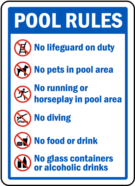 Pool rules sign by f6964 - Swimming pool regulations in texas ...