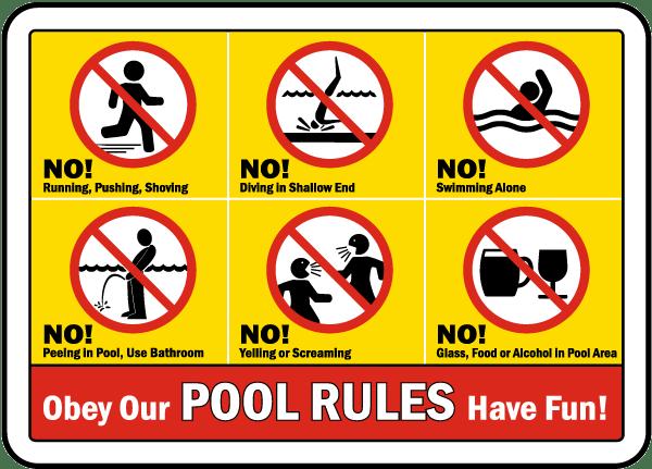 Pool Rules Sign F6970