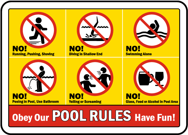 Pool Rules Sign - F6970. Pool Rules Signs by SafetySign.com.