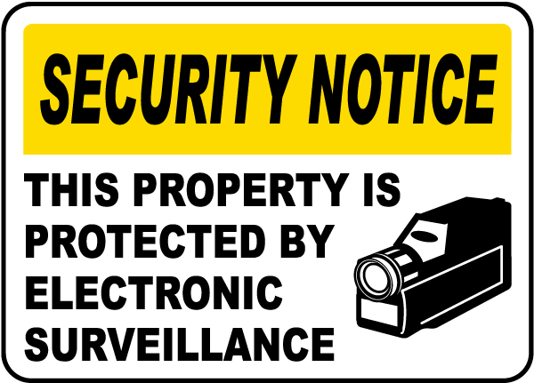 Property Protected by Surveillance Sign