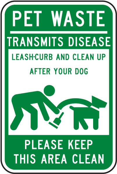 Clean Up After Your Dog Sign F7107 By
