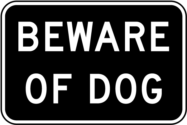 Beware of Dog Sign F7124 - by SafetySign.com