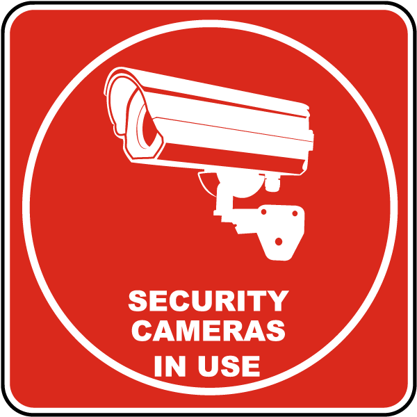 security cameras in use sign by safetysigncom f7131